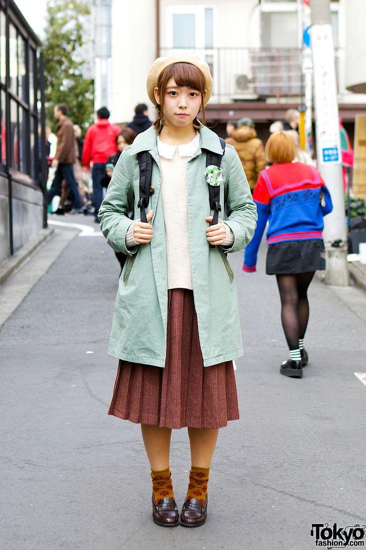 Hikari's vintage style look on the street... | Tokyo Fashion