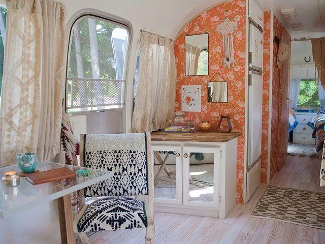 Sarah Schneider Airstream - Airstream Decorating Ideas - Country Living