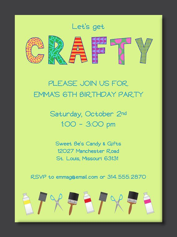 26 best kids birthday party invitations images on pinterest crafty kids birthday party invitation filmwisefo Choice Image