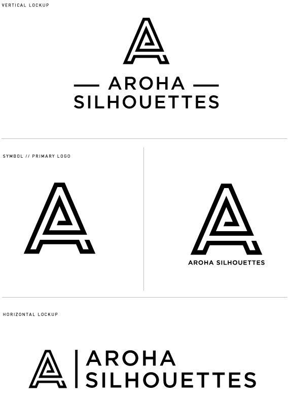 Aroha Silhouettes Logo Design