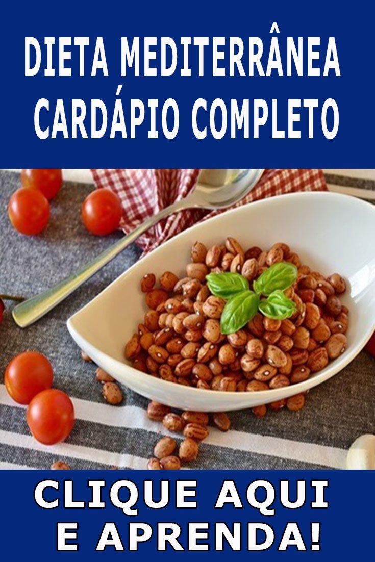 dieta do mediterrâneo cardápio mensal