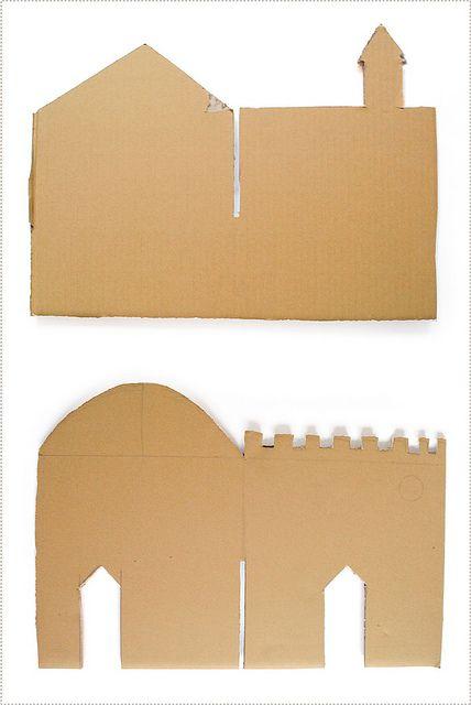 mer mag: Interlocking Cardboard Castle DIY