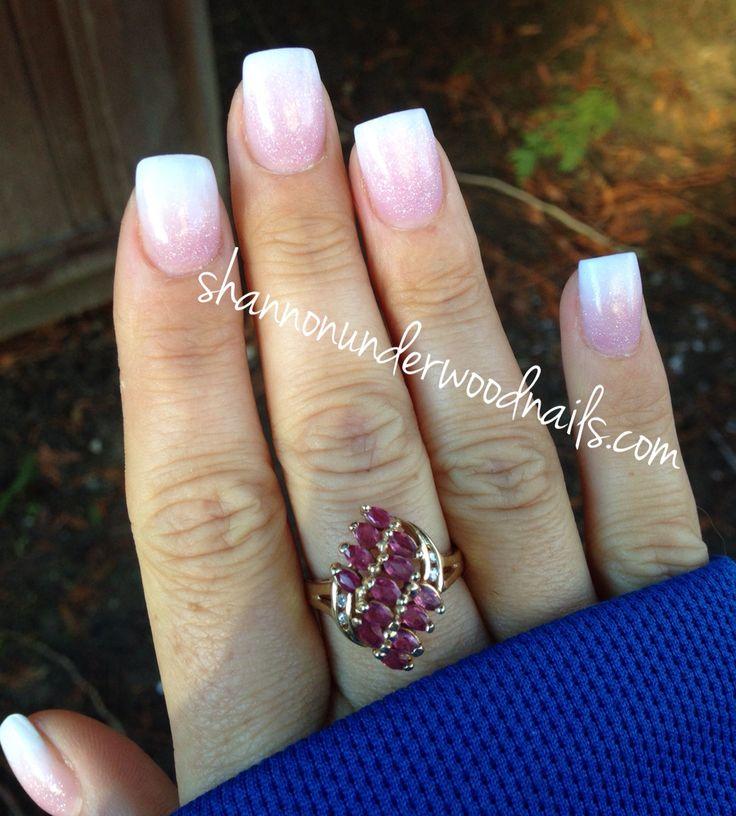 Baby boomer French nails, acrylic, acrylic nails, nail art, nails, gelish, nail artist