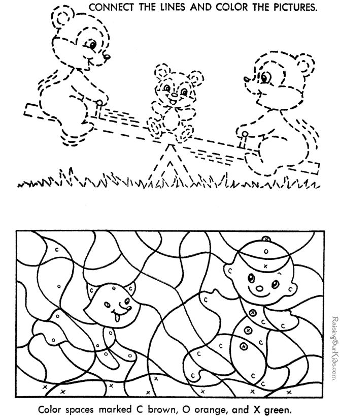 free color by number for kid