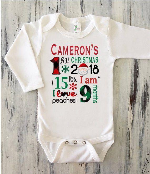 First Christmas My First Christmas Onesies\u00ae Christmas Onesies\u00ae Baby Bodysuit Christmas Gift Baby/'s First Onesies\u00ae Holiday Onesies\u00ae