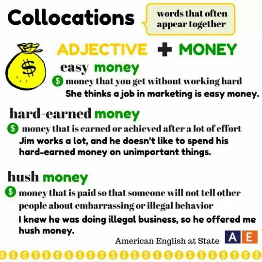 collocation list with meaning pdf