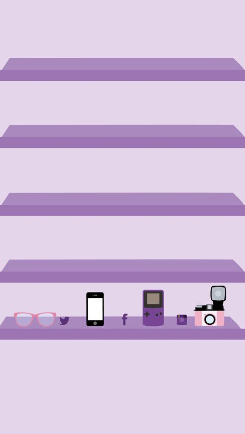 Gamer Love iPhone Wallpaper Shelves
