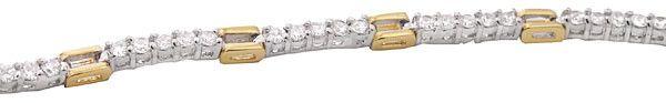 7.48 Carat Diamond 14K Two-Tone Tennis Bracelet