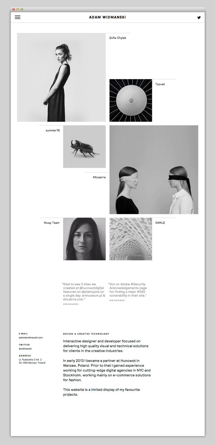 B&W Website