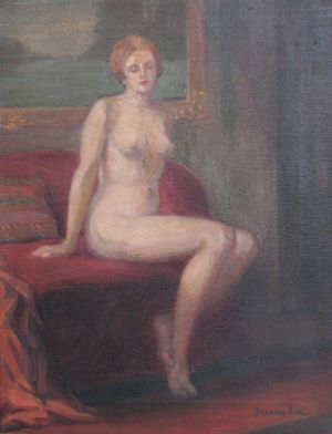 Ipolit Strâmbu  - Nud pe canapea