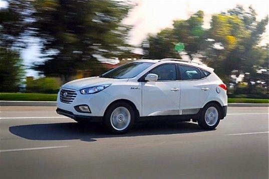 Hyundai, Hyundai Tucson, Hyundai fuel cell, Hyundai Tucson fuel cell vehicle, Hyundai Intrado, 2014 Geneva Motor Show, hydrogen, electric ca...