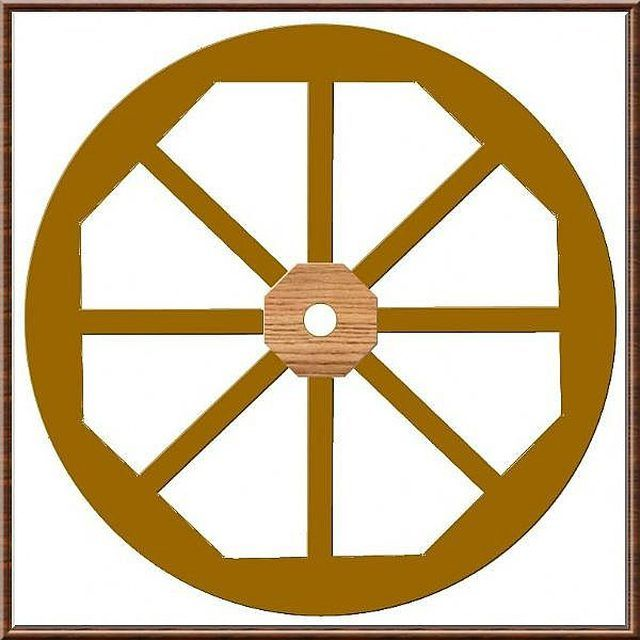 You are looking for something to dress up your landscaping; a nice looking, rustic wagon wheel! Make a wooden wagon wheel that resembles old-country farmer's cart wheels; one...