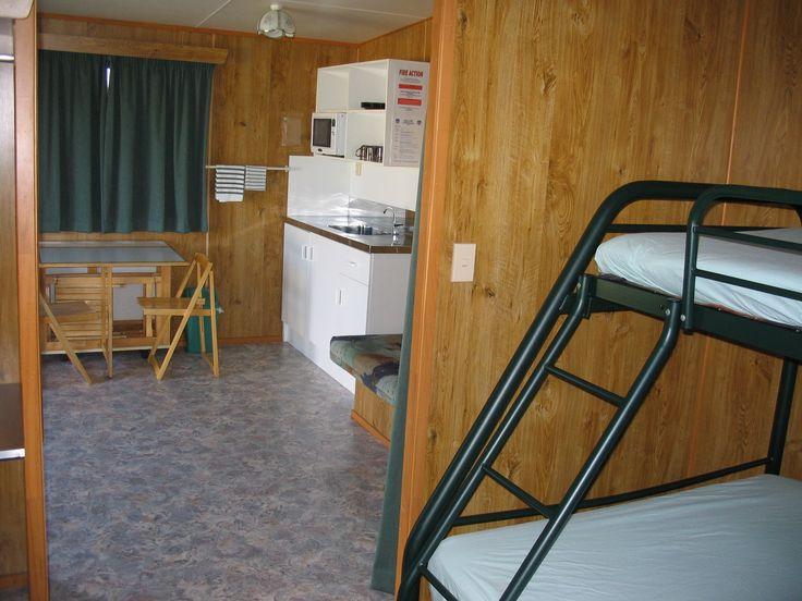 Kitchen Cabin interior, Cosy Corner Holiday Park, Mt Maunganui, NZ