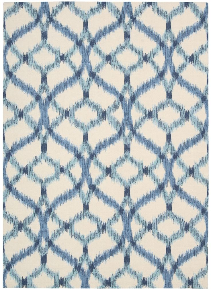 Soothing OUTDOOR / Indoor Rug! Just Rinse Of With A Hose! The Izmar Ikat