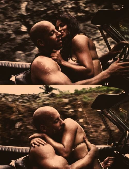 "michyrod: "" Vin Diesel & Michelle Rodriguez in 'Los Bandoleros' "" Lucky woman!!!"