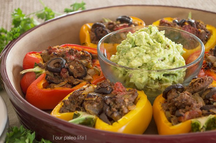 These Paleo stuffed peppers are an easy and delicious way to have an impressive dinner for your guests. Plus, they are allergen-free and Whole30-compliant.