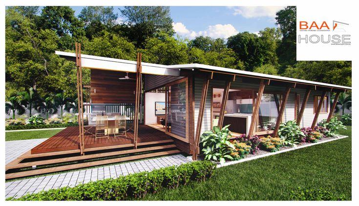 2 bedroom granny flat- Kooka design, Baahouse