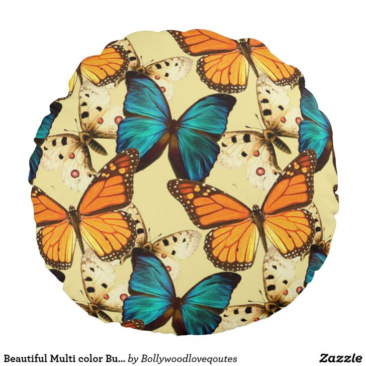 Beautiful Multi color Butterflies Cushion cover