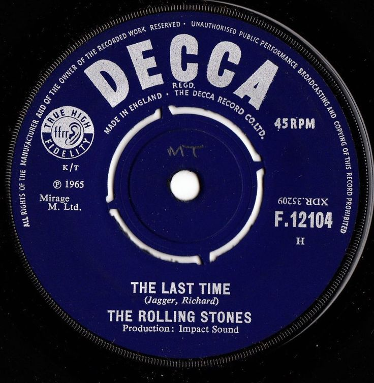 The Rolling Stones The Last Time 1965 Uk Decca Records 7