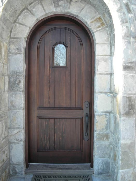 Simple but beautiful wood door.