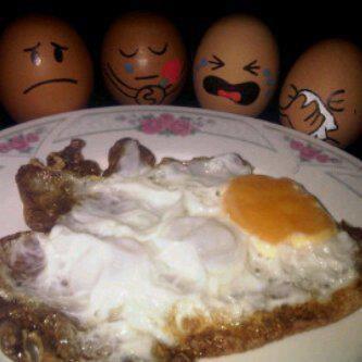 Sneu; die eieren missen hun vriend;)