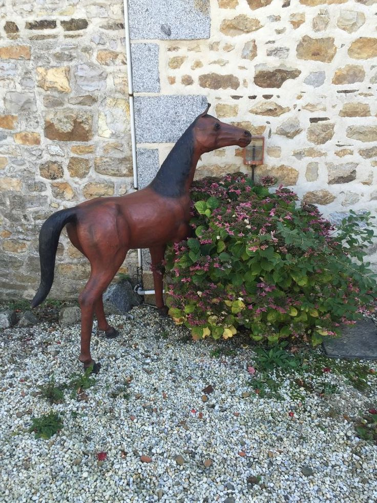 5ft Wooden Leather Covered Saddlery Shop Horse, Delivery Available.   eBay