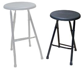 Special Reduced Height Folding Steel Bar Stools