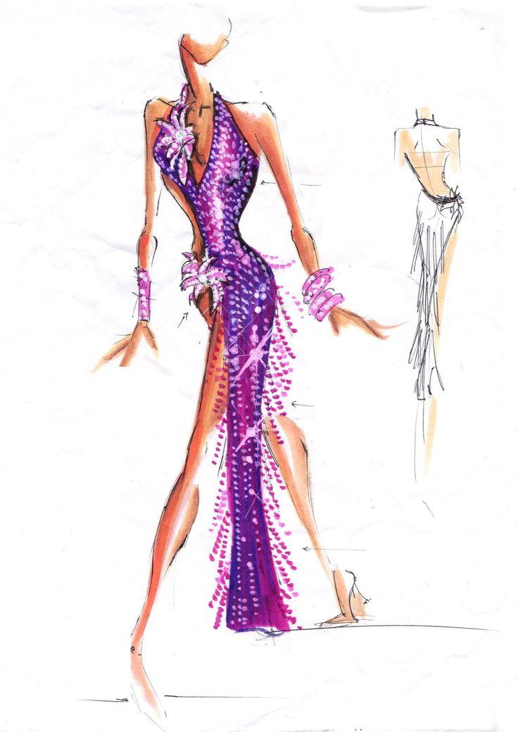 Latin 5 Latin Ballroom Costume Illustration Pinterest