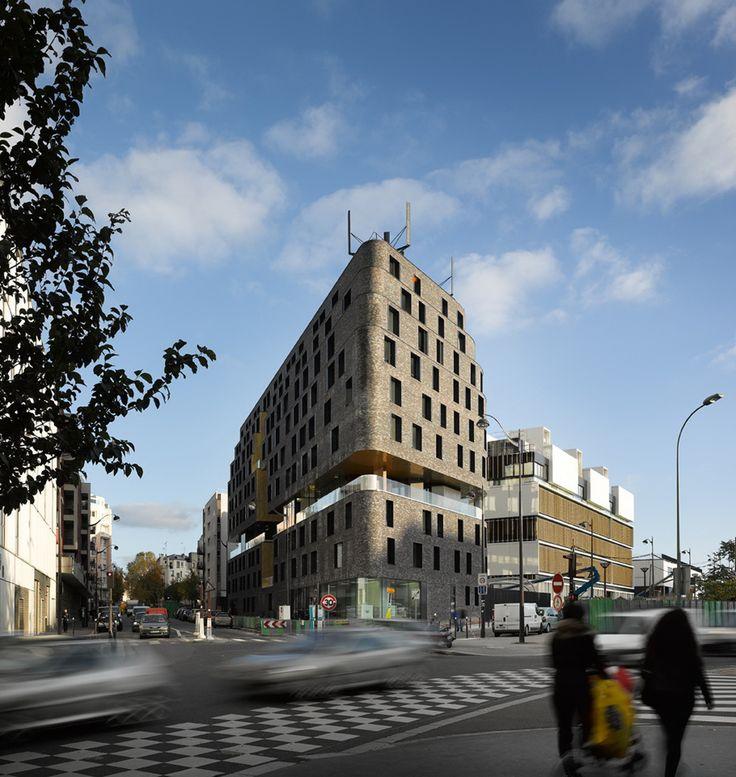 LILAS projet de foyer et crèche façade en briques à Paris 20