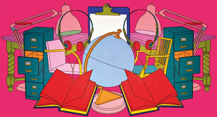 Conference, 1999. Acrylic on canvas. 274.3 x 508cm by Michael Craig Martin