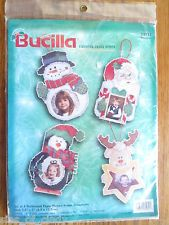 nip bucilla counted cross stitch kit 4 perforated picture frame ornaments