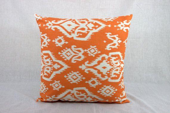 SALE ENDS SOON!!! Throw Pillows Sofa -  Orange 18x18 Accent Pillow Cover 18x18