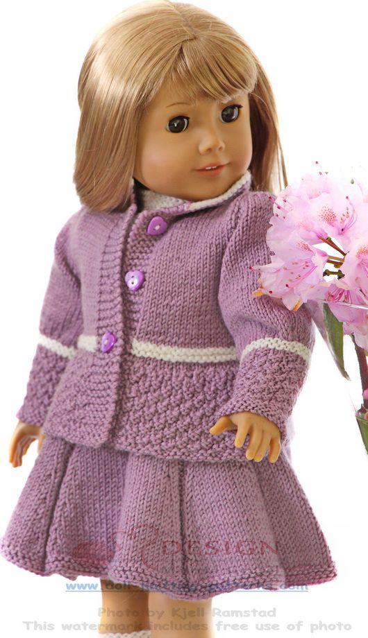 Doll knitting summer fashion