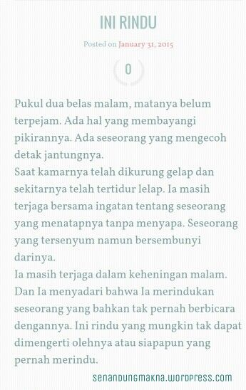 Ini rindu #quotes #puisi #Indonesia