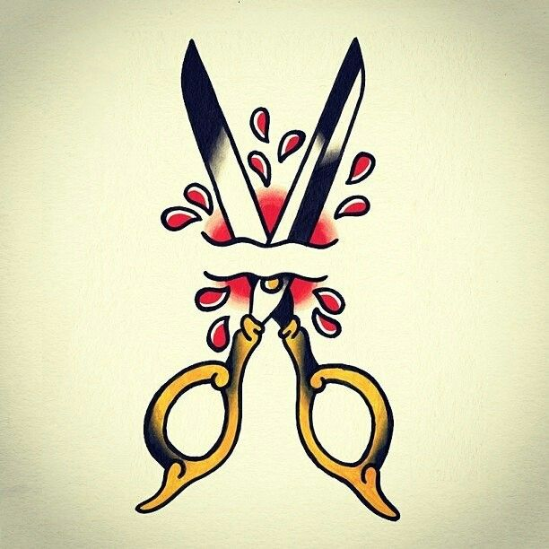 #traditional #tattoo #scissors