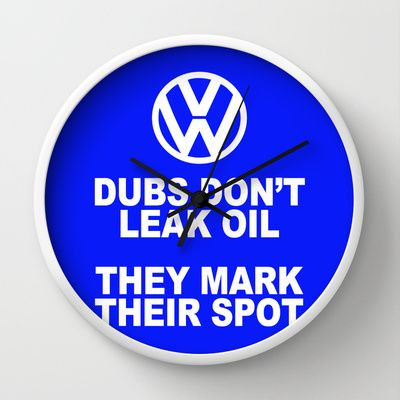 VW Mark the Spot Wall Clock - $30.00  Available with black, white or natural frame and black or white hands.  #clock #VW #Volkswagen