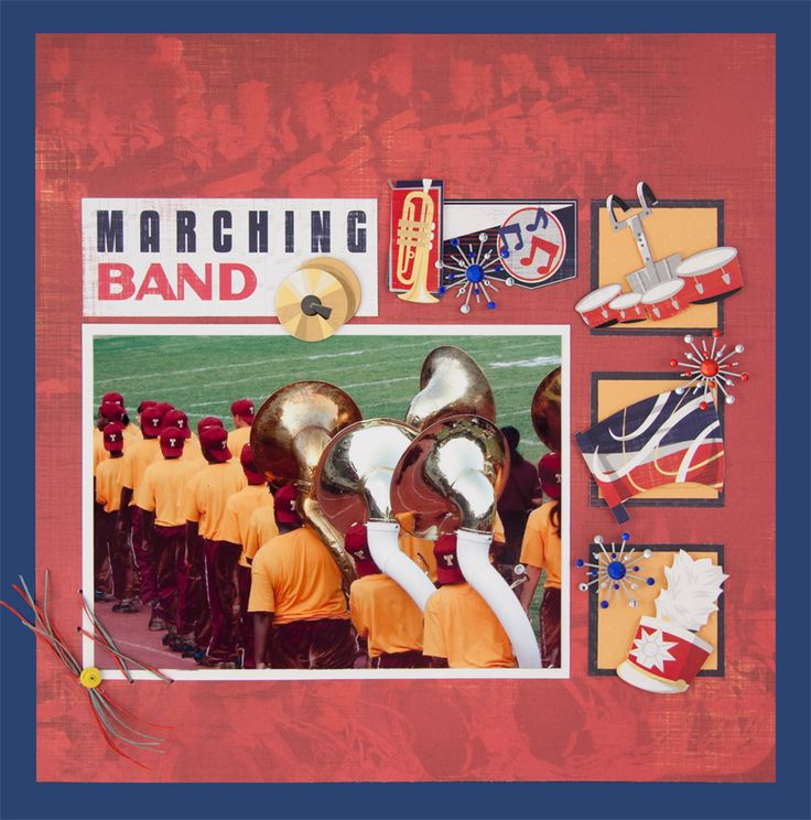 Marching band stickers design marching band collection cardstock stickers the marching band