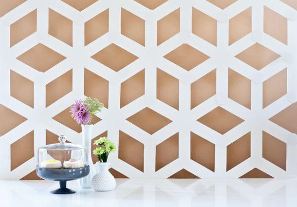 DESIGN MAROC | Un motif géométrique pour votre mur / DIY