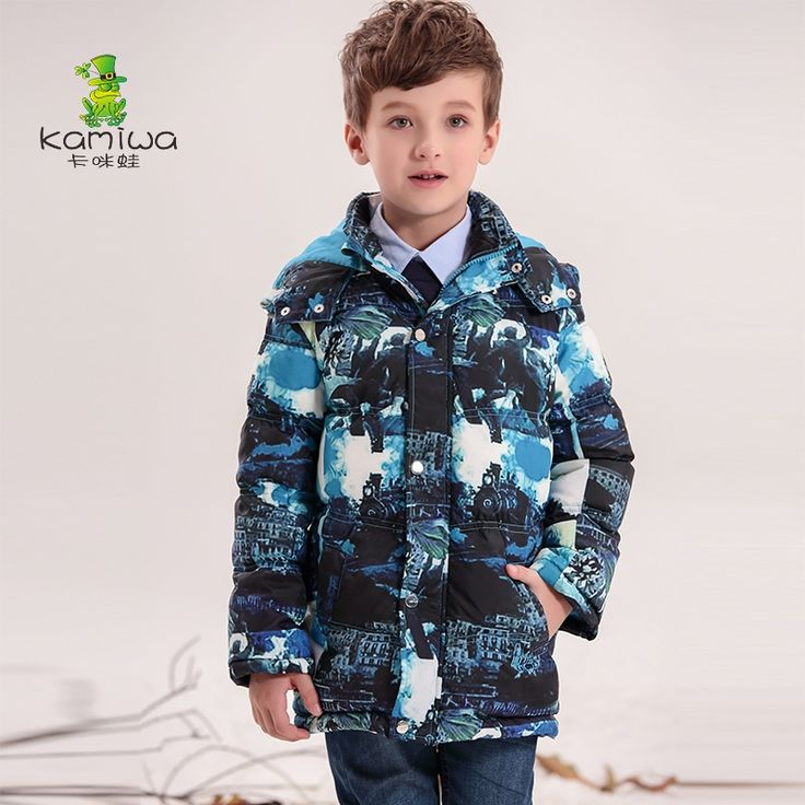 108.00$  Watch now - http://alita7.worldwells.pw/go.php?t=32515384186 - KAMIWA 2016 Baby Boys Winter Coats Jackets Geometric Printing White Duck Down Parkas Hooded Children Clothes Kids Clothing 108.00$