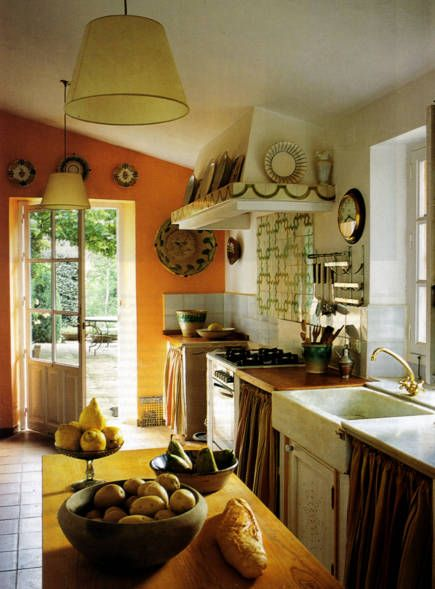 Spanish Country Kitchen by Jane For November 15, 2008 in Rustic Kitchen
