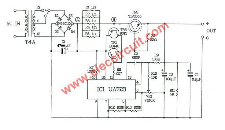 circuit diagram of 6v dc power supply