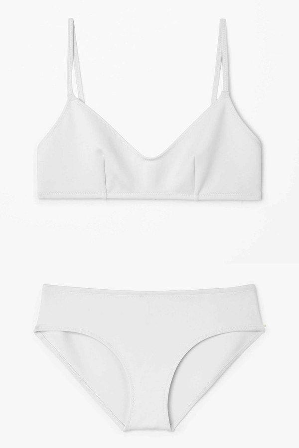 Double-sided bikini top, $35, cosstores.com; bottom, $25, cosstores.com