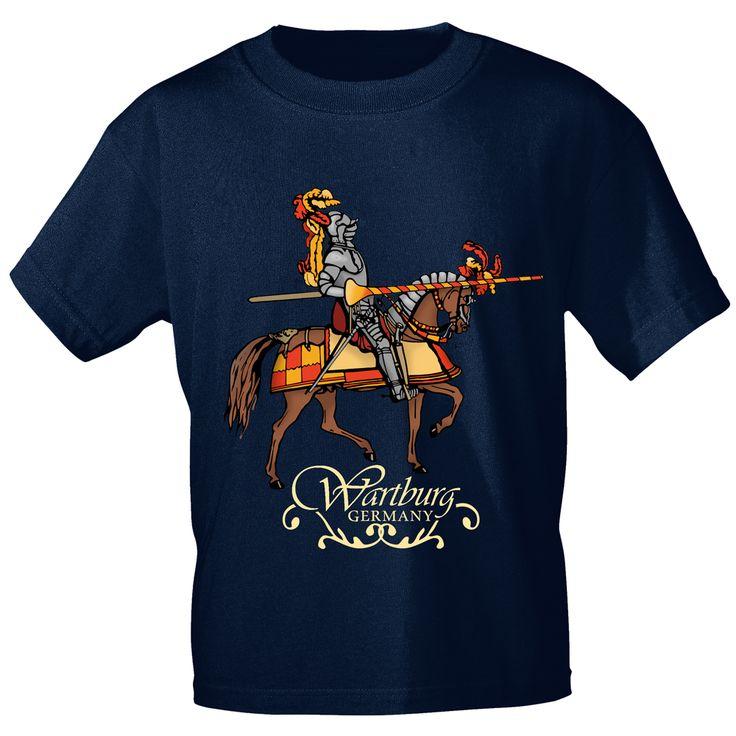 T-Shirt, navyblau, mit Aufdruck - Wartburg Germany