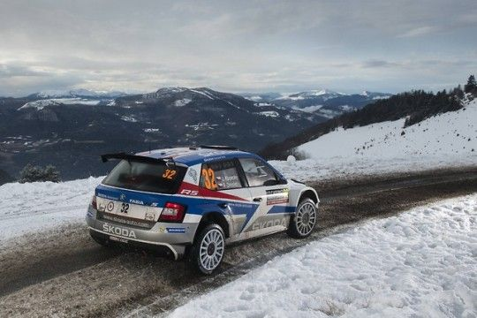 WRC2 is being dominated by Jan Kopecky in his Skoda Fabia R5  - he is complaining of difficult conditions as the leading WRC cars drag more and more dirt out onto the roads around slower corners.