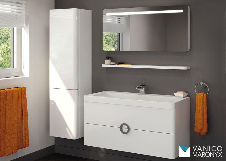 Mobilier de salle de bain SOPRANO de la SÉRIE EXPRESS - VANICO MARONYX. Disponible chez Montréal - Les - Bains