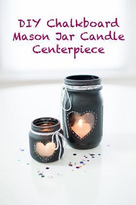 Frascos de cristal pintados con chalk paint