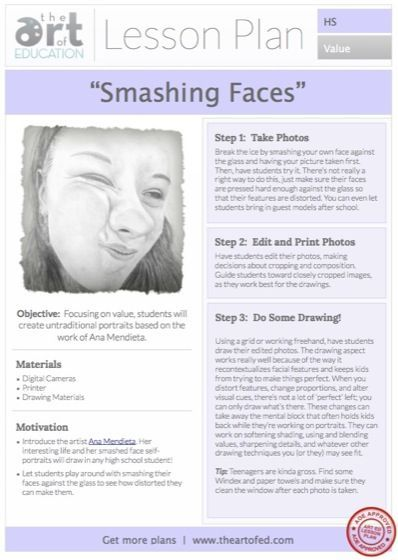 Smashing Faces: Free Lesson Plan Obtain (The Artwork of Schooling)