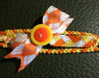 candy corn friendship bracelet patterns   Halloween Candy Corn Friendship Bra celet - FREE SHIPPING ...