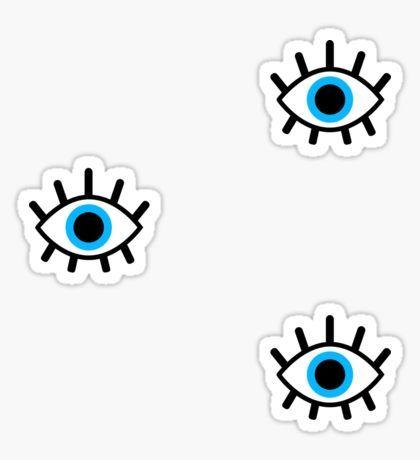 magic eye trio Sticker