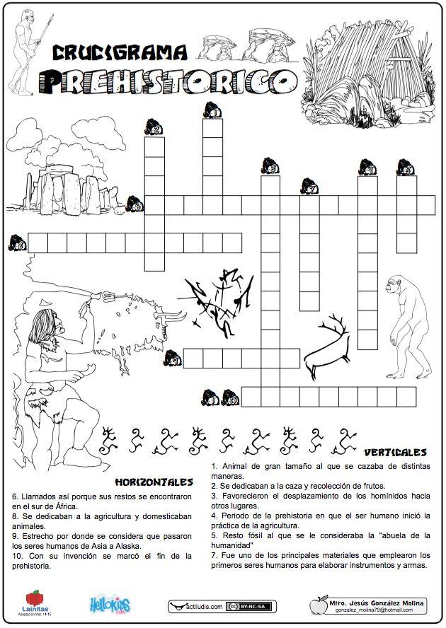 Crucigrama prehistórico
